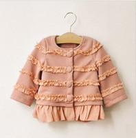 baby girl kids ruffles lacy lace Jacket coat cardigan blazer...
