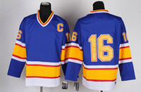 Wholesale Bule Color Throwback Jersey Hockey Wear Hockey Jerseys
