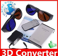 Wholesale 2D D Converter and Multi Media Player Brand New D to D Converter HDMI with Glasses Remote Control