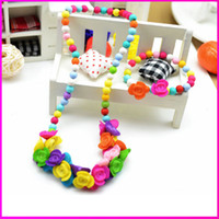 Wholesale Kids Necklace Children Jewelry Sets Children Bracelet and Necklace Set Birthstone Jewelry XL018