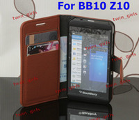 Wholesale Wallet Leather Flip Case Cover Pouch with Inner Card Slot for Blackberry Z10 BB10