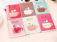 Wholesale Freeshipping New Creative Cute milk tea Diary book Notebook Note pad Memo