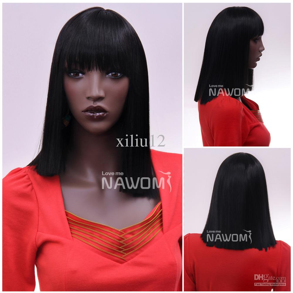 women wigs with bangs black women wigs high quality synthtic wigs ...