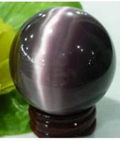 Wholesale Purple Quartz cat s eye Carving Sphere Ball MM