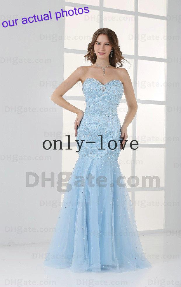 Blue Mermaid Prom Dresses