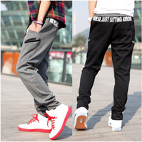 Wholesale Retail Mens Long cargo pants Letter printing Harem Pants Hip Hop Dance Casual Trousers
