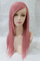 cosplay wig new  MEDIUM FASHION SMOKE PINK WOMEN HEAT RESISTANT PARTY WIG