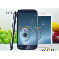 Wholesale I9300 S3 WIFI Cell phone Quad band with TV inch touch screen JAVA mp4 unclocked GSM Russian