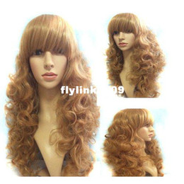 Wholesale New Style Womens Girls Sexy Long Wavy Curly Hair Piece Extensions Light Brown