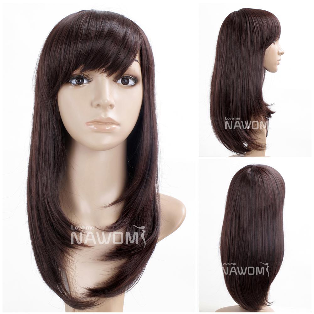 Cheap Long Brown Wigs For Women Stright Hair Wigs High