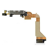 Wholesale Dock Connector Charger Flex Cable Charging Port for iphone G S Black White Good Quality Cheap