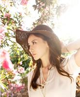 Jacquard folding straw hat - Small pepper brimmed straw hat sun hat beach hat folding beach straw hat