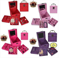 Wholesale Luxury Jewelry Display Storage multideck bins Jewellery Box case necklace earrings rings boxes