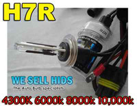 Wholesale 30 PAIRS V W H7R H7R Metal Base AC HID Xenon Replacement Bulbs Anti Glare Reflector Spare Lamps All Color K K K K k