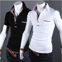 Men Cotton Polo New Arrive Summer Casual Short Sleeve men's t shirts Plaid men's t-shirts polo shirts 2634