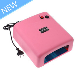 Wholesale W Pink Nail Art UV Gel Curing Lamp Dryer Light UV lampEU PLUG