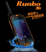 Wholesale Runbo X5 Rugged Smartphone With quot Touch IP67 Waterproof Dustproof Android PTT GPS MP Camera
