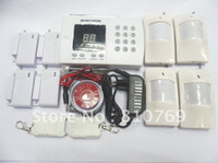 Wholesale W MOST ADVANCED zone auto dial WIRELESS HOME OFFICE SECURITY ALARM SYSTEM with LED display