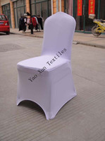 Wholesale sample order white spandex chair cover with an arch on feet