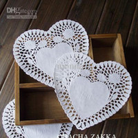 lace doilies - 600pc FreeShip Create Craft cm Heart White Paper Lace Doilies Placemat Wedding Decoration O G