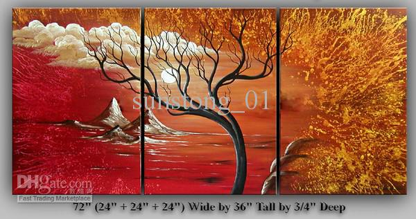 2017 Great Red World Oil Group Art Painting Home Decorative Abstract Art Morden Handmade Canvas Paintings From Sunstong 01 31 36 Dhgate Com