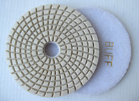 diamond,resin wet grinding - 3 Diamond wet stone polishing Pads for marble using in Hand Grinding Machine