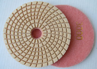 Wholesale 125mm of step diamond wet polishing pads by new model for granite and marble mm
