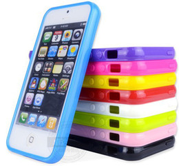 Wholesale For iphone case TPU rubber material solid color gloss surface matt inside Multi Color availabl