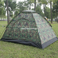 Wholesale Outdoor Four Seasons Folding Double camouflage Hiking camping tent