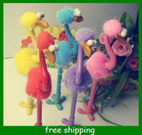 Wholesale Cartoon ostrich plush pen Children pens kids girls Creative Student stationery gifts