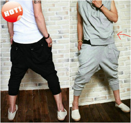 Wholesale NEW Men s Women s Athletic Sporty Casual Baggy Harem Hip Hop Dance Sweat Sport Capri Short Pants Tro