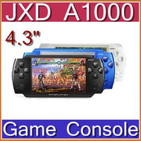 Wholesale CHpost JXD A1000 quot LCD Game Console Media Player Camera AV Out FM TF MP5 games