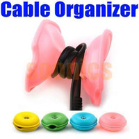 Wholesale Turtle Cable Cord Wire Organizer Winder For iPhone iPod Cellphone MP3 Laptop PC