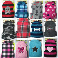 Wholesale lovely pc Fashion Cute Dog Vest Pet sweater Shirt Soft Coat Jacket Autumn amp WINTER Clothes