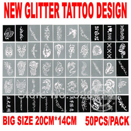 Wholesale PH D03B New Stencils for Body Painting Glitter Tattoos sheets Mixed Designs