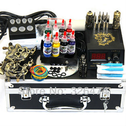 Wholesale COMPLETE TATTOO KIT GUN LCD POWER SUPPLY NEEDLE TIP WS K806