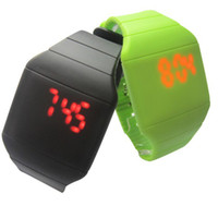 Wholesale 2013 new fashion slim touch screen LED watch the plastic luminous sports watches