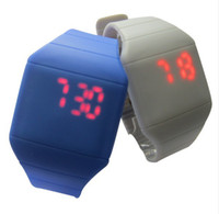 Wholesale 2013 Multi color Thin Simple Style Women Men Touch Screen LED Watch