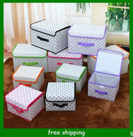 Wholesale Folding storage bin non woven clothing bin large bin storage box