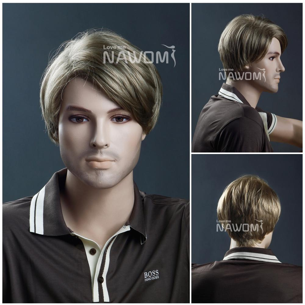 Mens Wigs Before And After Wigs For Men Synthtic Wigs