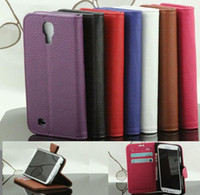 Wholesale For Samsung Galaxy S4 SIV I9500 Wallet Credit Card Slot Leather Case Cover Holster Book Style Sample