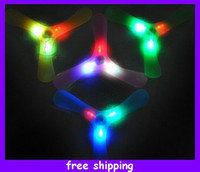 Wholesale New Arrival Led Boomerang Frisbee UFO Boomerang Flying Saucer Kids Outdoor Toys