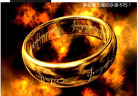 Wholesale 10PCS South Korea s new fashion accessories tungsten jewelry is the Lord of the rings gold