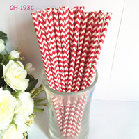 Wholesale red chevron paper straws Paper Straws Event amp Party Supplies Environmental