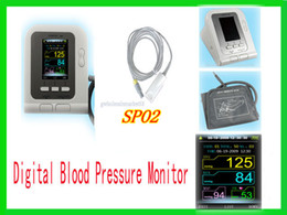 Wholesale Brand New Digital Blood Pressure Monitor TFT color Lcd display free CD Software SPO2 probe