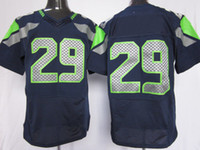 Wholesale New Cheap Men Elite American Football All Team Blue Jerseys Rugby Jersey Mix Order