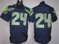 Football manning jersey - Football Jerseys Men Elite American Blue Jerseys Rugby Jersey Mix Order