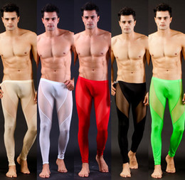 Wholesale New Sexy Men s Clothing Zentai Leggings Ballet Silk long johns Costumes Nylon Spandex Zentai for Men