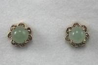Women's amazing gemstones - Amazing mm Green Emerald Round Gemstones Earring