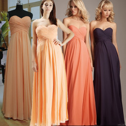 Wholesale 2012 custom made cheap strapless ruffle dressy chiffon bridesmaid dress party dress OP01